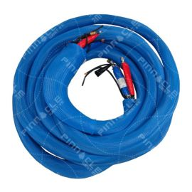 "Heated Hose, 3/8"", 2000psi, Blue Mesh SG, RTD, 50 ft"