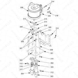 Reactor A-Series Air Motor Pump Assembly Exploded Diagram