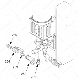 Reactor A-Series Fluid Inlet Exploded Diagram
