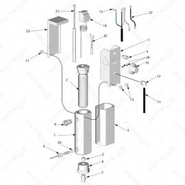 Reactor E-10 Fluid Heater Exploded Diagram