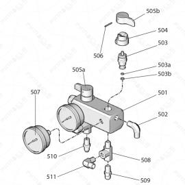 Reactor E-10 Unheated Fluid Manifold Exploded Diagram