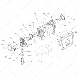 Reactor E-10hp Proportioner Assembly Exploded Diagram