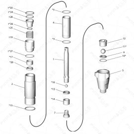 Reactor A-25 Proportioning Pump Exploded Diagram