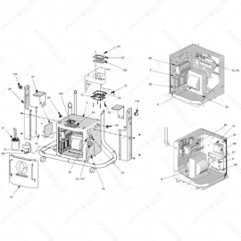 Reactor H-Series Electrical Cabinet Exploded Diagram