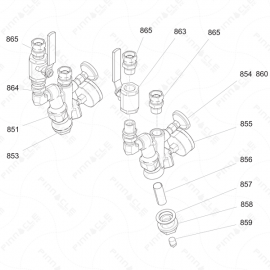 Reactor I-Series Fluid Inlet Exploded Diagram