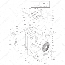 Reactor I-Series Radiator Exploded Diagram