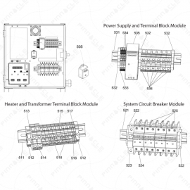 Reactor 2 E-Series DIN Rail Exploded Diagram
