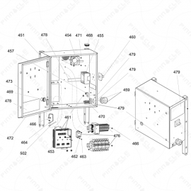 Reactor 2 E-Series Electrical Enclosure Exploded Diagram