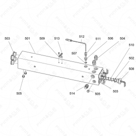 Reactor 2 H-Series 7.5kw 1 Zone Heater Exploded Diagram