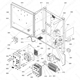 Reactor 2 H-Series Electrical Enclosure Exploded Diagram