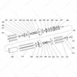 Reactor 2 H-Series Hydraulic Cylinder Exploded Diagram