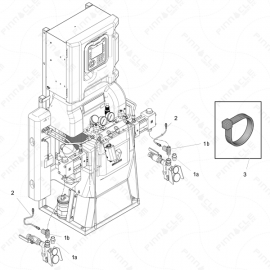 Reactor 2 H-Series Inlet Sensor Exploded Diagram