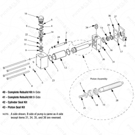 Reactor 2 H-40 Proportioning Pump Exploded Diagram