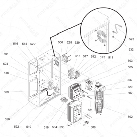Reactor 2 I-Series Electrical Enclosure Exploded Diagram
