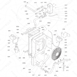 Reactor 2 I-Series Radiator Exploded Diagram