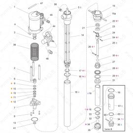 Graco T3 CS Transfer Pump Exploded Diagram