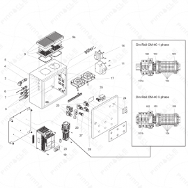 ToughTek CM-40 Electrical Enclosure Exploded Diagram