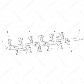 ToughTek CM-40 Mixing Shaft Assembly Exploded Diagram