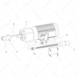 ToughTek CM-40 Motor Assembly Exploded Diagram