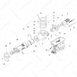 ToughTek CM-40 Silo Main Unit Exploded Diagram