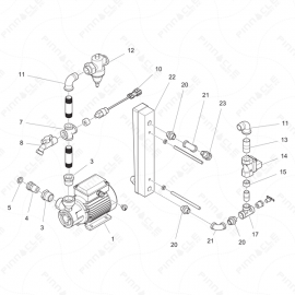 ToughTek CM-40 Water Pump Assembly Exploded Diagram
