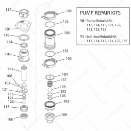 ToughTek M680a Pump Exploded Diagram