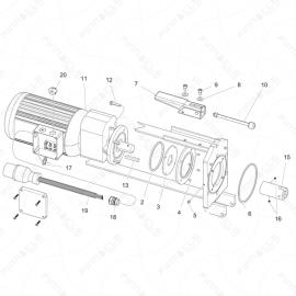 ToughTek MP-20 Motor Assembly Exploded Diagram