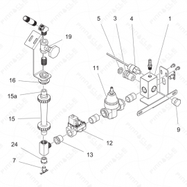 ToughTek MP-20/MP-40 Water Control Assembly Exploded Diagram