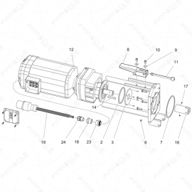 ToughTek MP-40 380V Motor Assembly Exploded Diagram