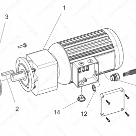ToughTek P-20 Motor Assembly Exploded Diagram