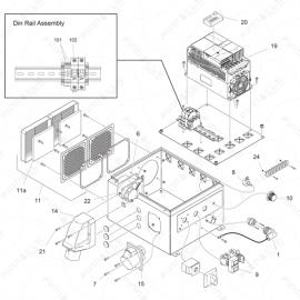 ToughTek P-30HT/P30XHT Electrical Enclosure Exploded Diagram