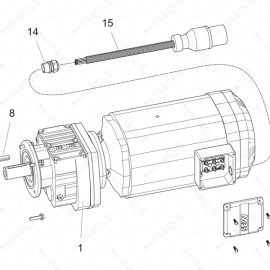 ToughTek P-30HT Motor Assembly Exploded Diagram