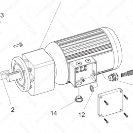 ToughTek P-30X Motor Assembly Exploded Diagram