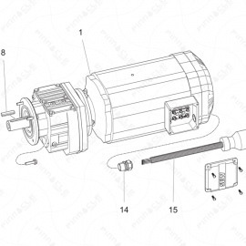 ToughTek P-30XHT Motor Assembly Exploded Diagram
