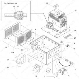 ToughTek P-40 Electrical Enclosure Exploded Diagram