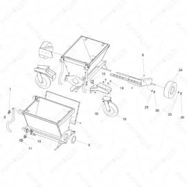 ToughTek P-40 Hopper Assembly Exploded Diagram