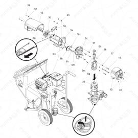 ToughTek S340e Driver Motor Exploded Diagram