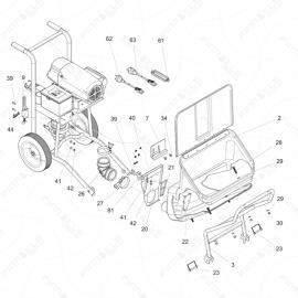 ToughTek S340e Main Unit Exploded Diagram