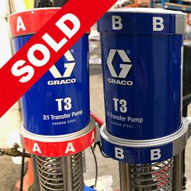 Used Graco T3 CS Transfer Pump Kit